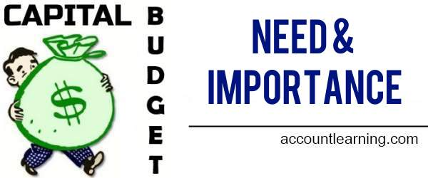 Capital Budget - Need and Importance