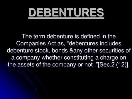 disadvantages of debentures
