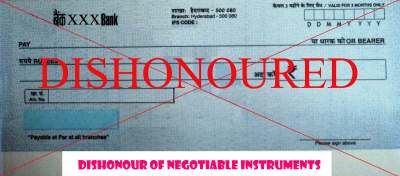 Dishonour of negotiable instruments