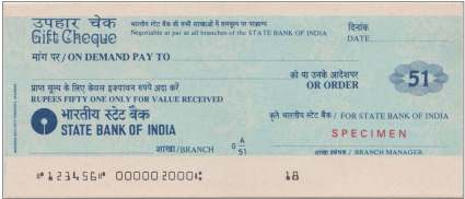 Cheque Specimen copy