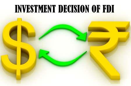 Investment decision of FDI