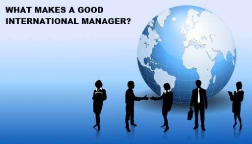 Good International Manager