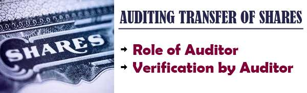 Auditing of Transfer of Shares