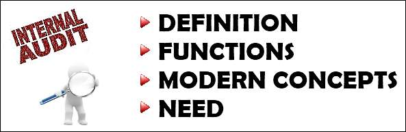 Internal Auditing definition, function, concepts, need
