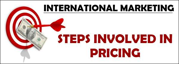Steps involved in pricing