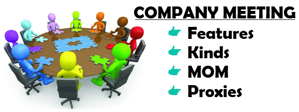 Company meeting - Features, Kinds, MOM, Proxies