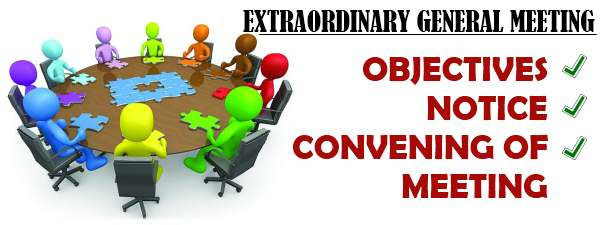 Extraordinary General Meeting - Objectives, Notice, Convening of Meeting