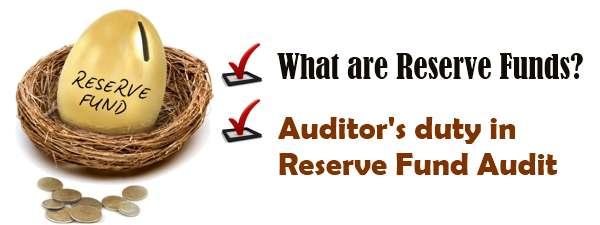 Reserve Funds Audit - Auditors Duty