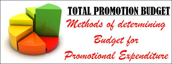 Total Promotion Budget - Methods of determining budget for promotional expenditure