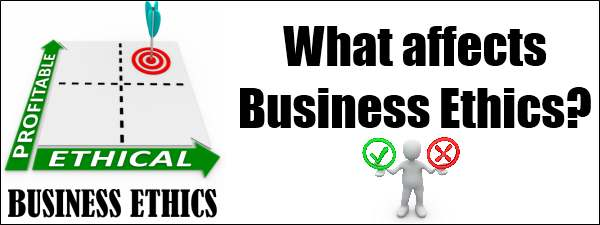 What affects business ethics