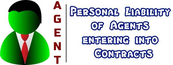 Personal liability of agents entering into contracts