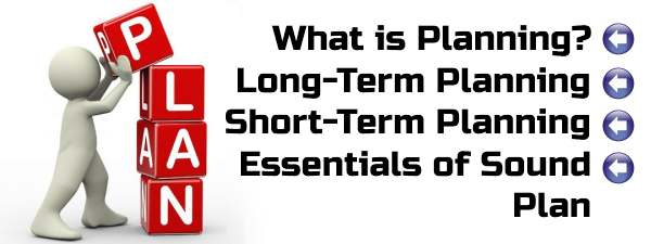 Short Term Plan : Planning meaning kinds essentials of sound plan