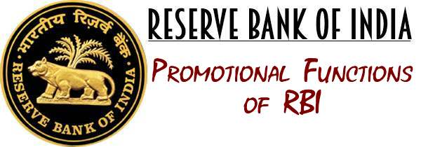 Promotional Functions of RBI