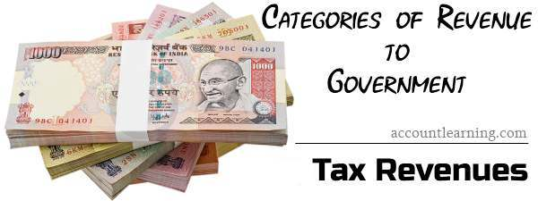 Categories of Revenues to Government - Tax revenues