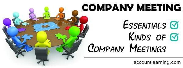 Company meeting - Essentials, Kinds