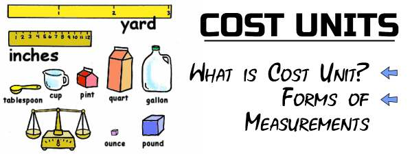 Cost Units - What is Cost unit, Forms of measurements