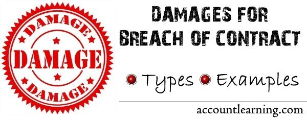 Damages for breach of contract - Types and Examples
