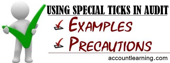 Using Special ticks in audit