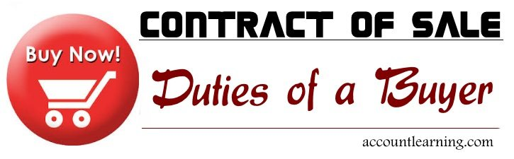 Contract of Sale - Duties of a Buyer