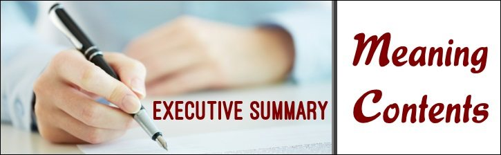 Executive Summary - Meaning, Contents