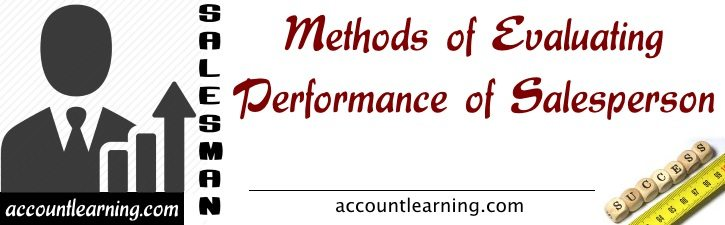 Methods of Evaluating performance of Salesperson