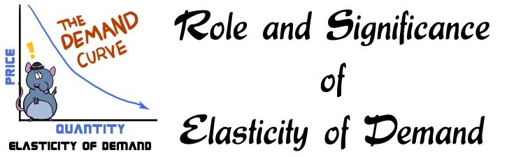Role and Significance of Elasticity of Demand