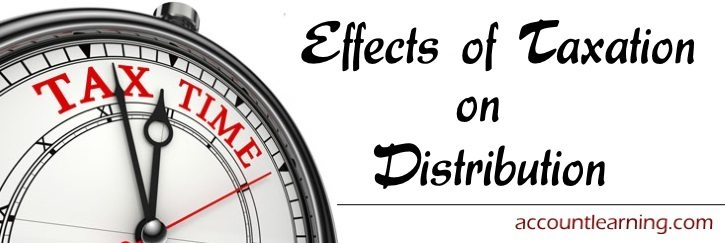 Effects of taxation on distribution