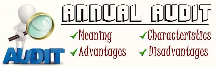 Annual Audit - Meaning, Characteristics, Advantages, Disadvantages