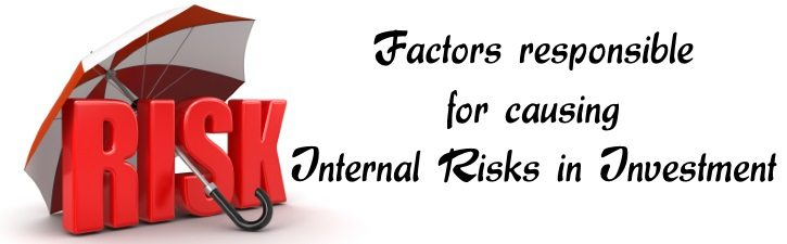 Factors responsible for causing internal risks in investment