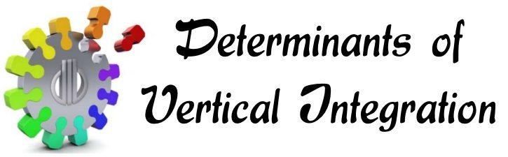 Determinants of Vertical Integration
