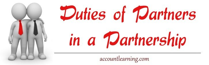 Duties of Partners in a Partnership