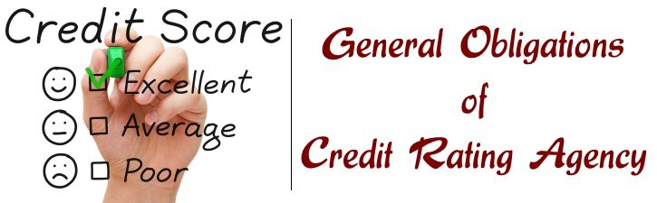 General Obligations of Credit Rating Agency