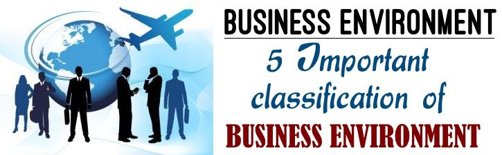 Important classification of Business Environment