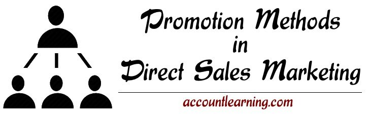 Promotion methods in Direct Sales Marketing