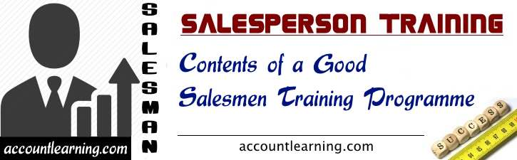 Contents of a Good Salesmen Training Programme
