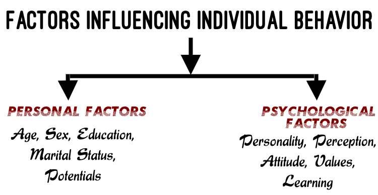 Personal factors and Psychological factors influencing individual behavior