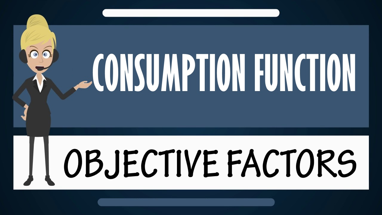 Consumption function - Objective Factors