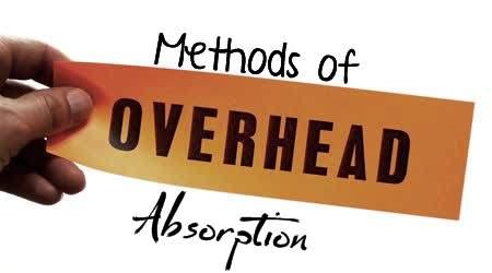Methods of Overhead Absorption