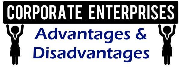 Advantages and Disadvantages of Corporate Enterprises