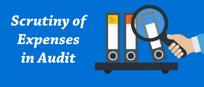 Scrutiny of Expenses in Audit